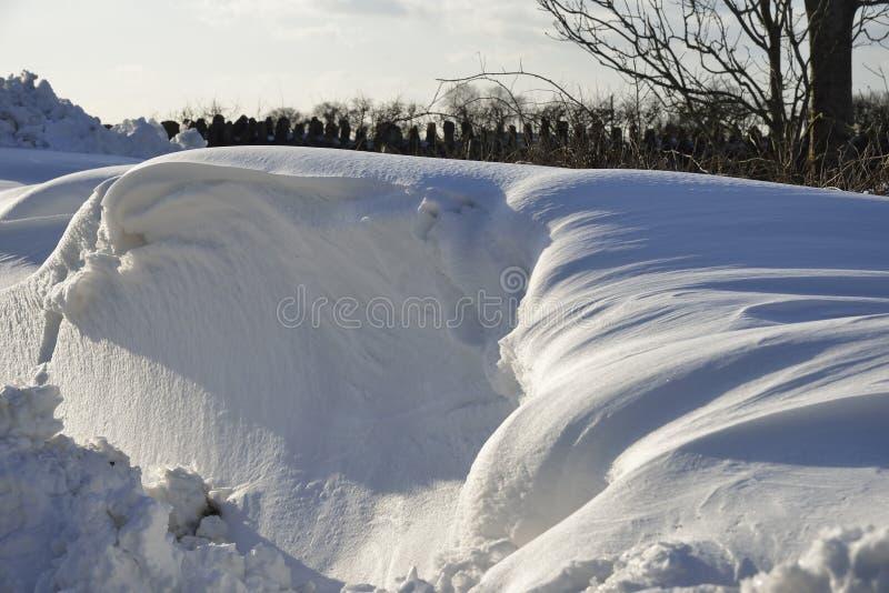 Смещения снега обочины стоковая фотография rf