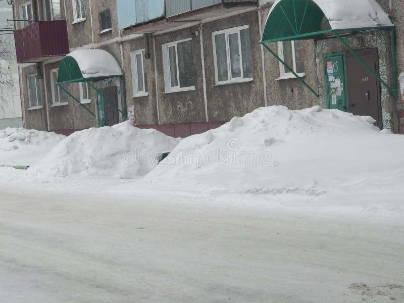 Смещения снега стоковое изображение