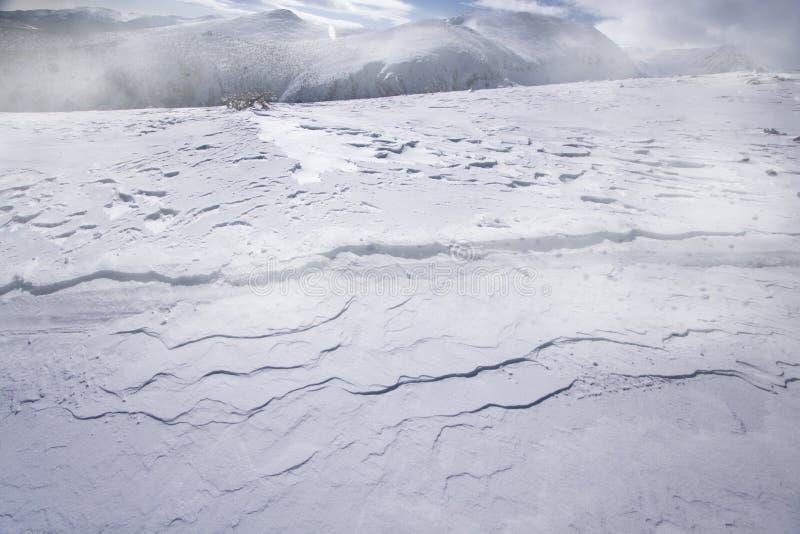 Смещения снега стоковые изображения rf