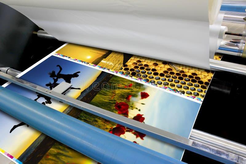 Смещенная деталь ламинатора фольги крена машины стоковые фотографии rf