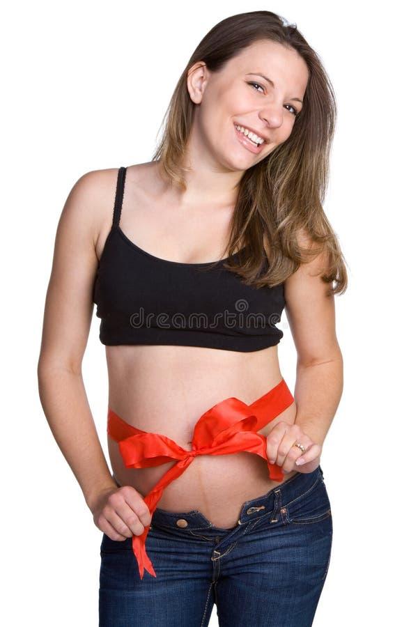 смеясь над беременная женщина стоковые изображения