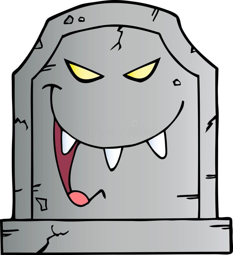 смеясь над надгробная плита бесплатная иллюстрация