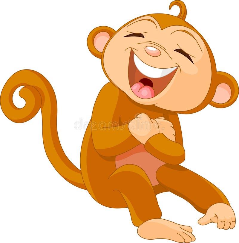 смеясь над обезьяна иллюстрация вектора