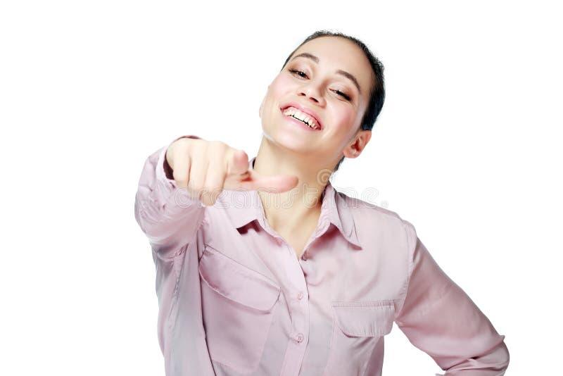смеясь над женщина стоковое изображение rf