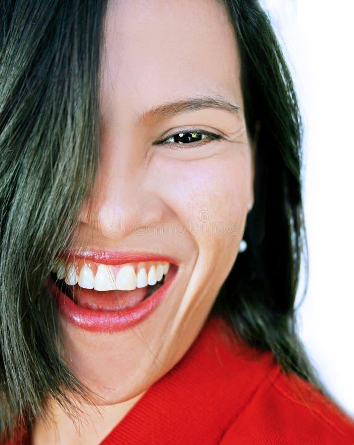 смеяться над красотки счастливый стоковая фотография
