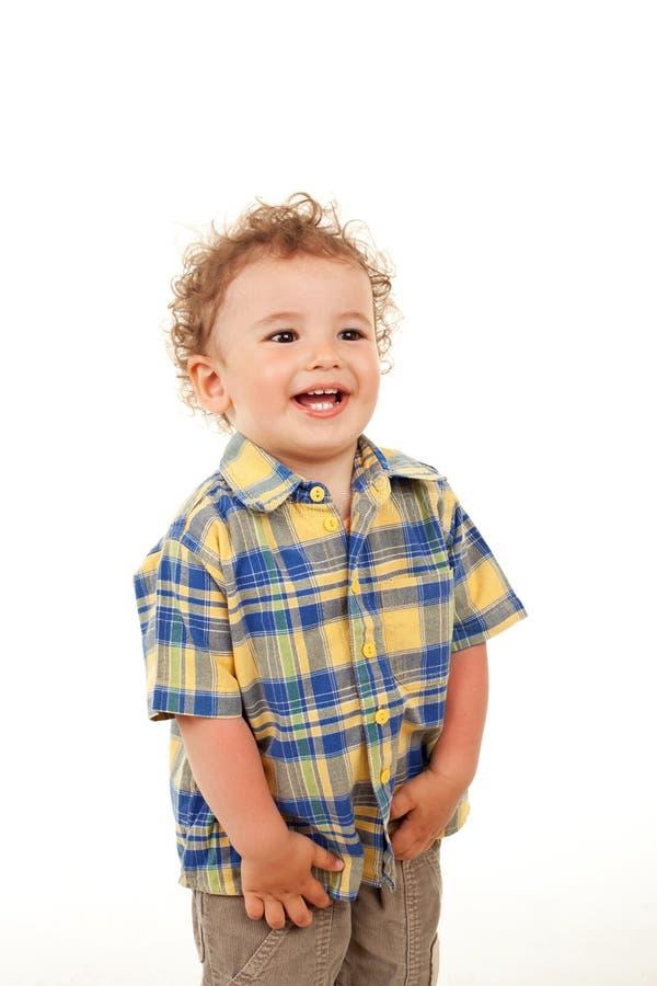 смеяться над мальчика милый стоковая фотография