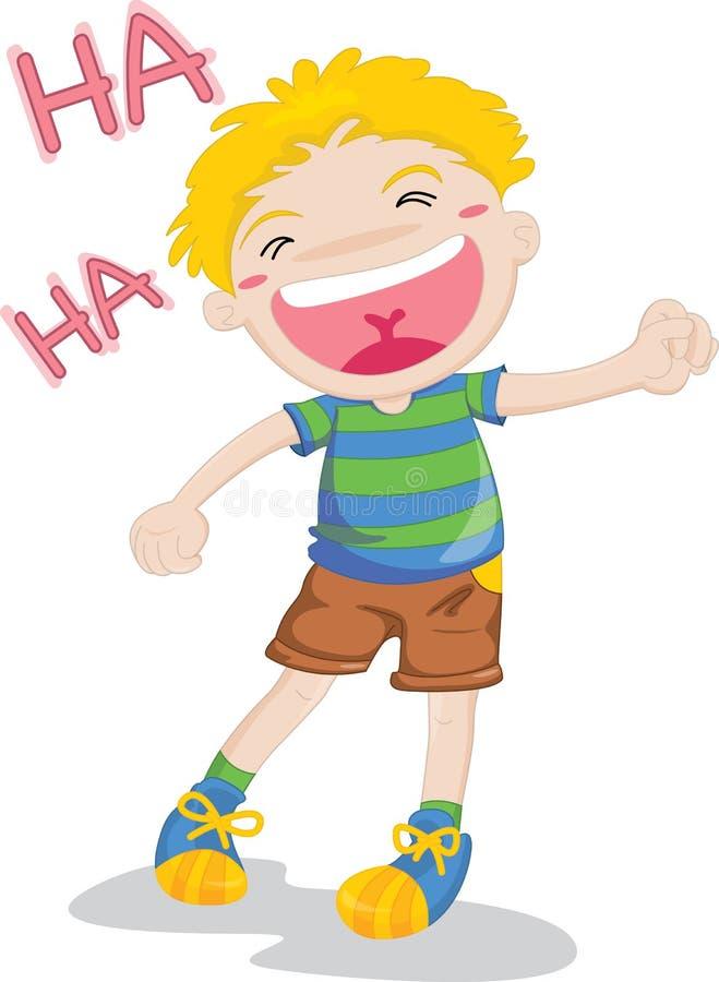 смеяться над мальчика иллюстрация вектора