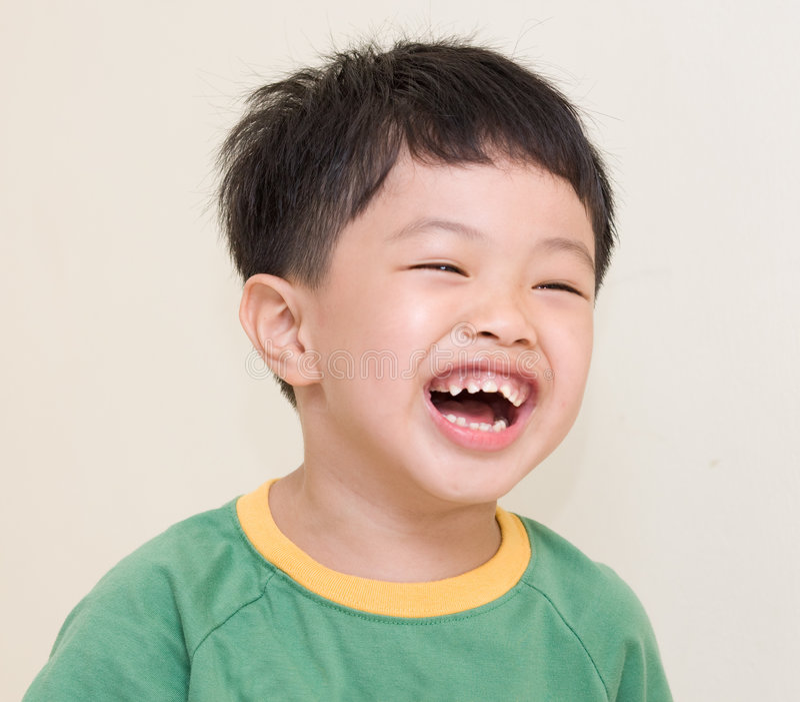 смеяться над ребенка стоковое изображение rf