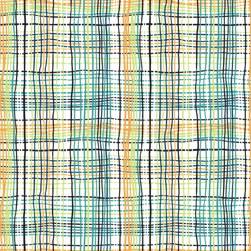 Смелейшая картина шотландки с тонкими brushstrokes бесплатная иллюстрация
