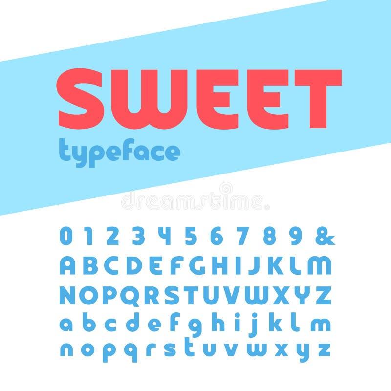 Смелейший шрифт Алфавит вектора с письмами и номерами иллюстрация штока