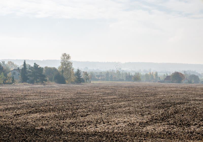 Смог в деревне стоковое изображение