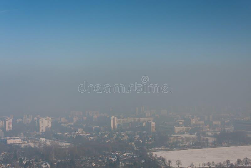 Смог в Cracow, Польше стоковая фотография rf