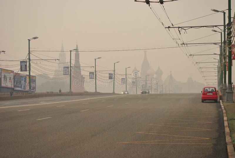 Смог над Москва стоковые фото