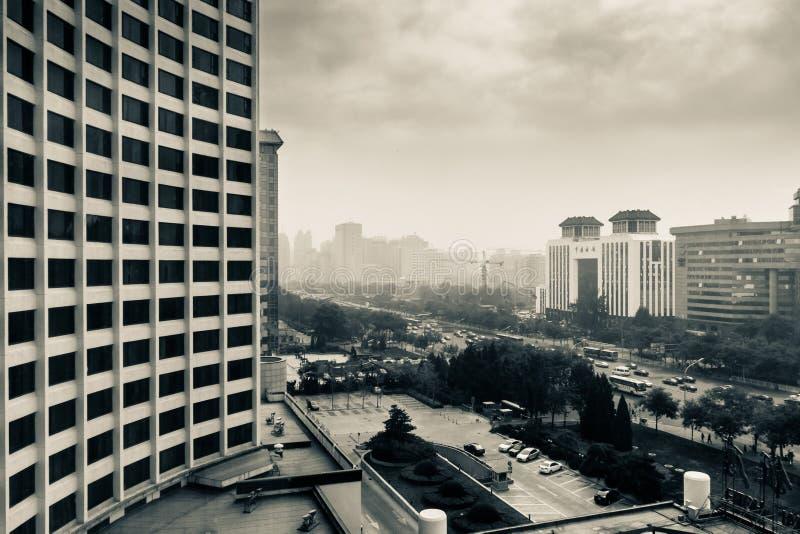 смог Пекин стоковая фотография