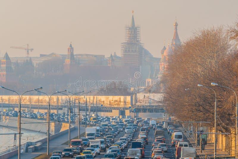 смог России реки moscow E r r стоковое изображение rf