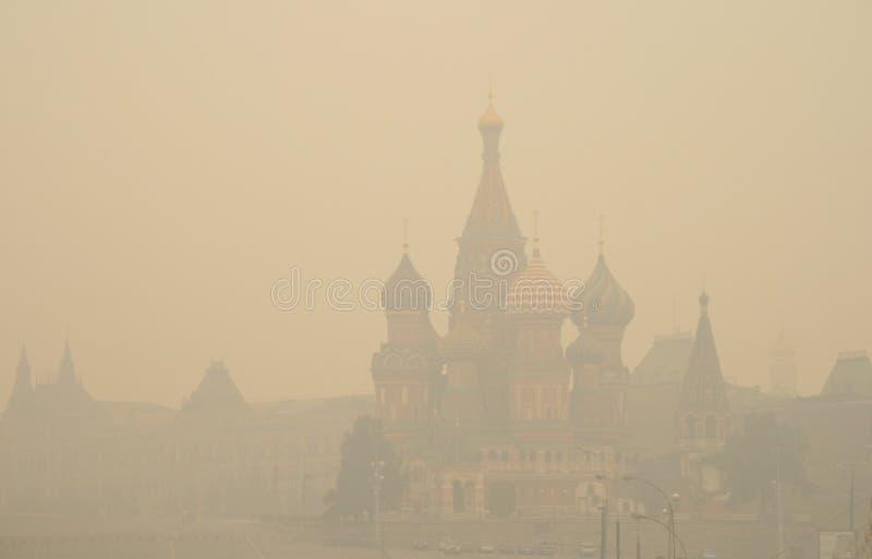 смог 2010 moscow стоковое изображение rf