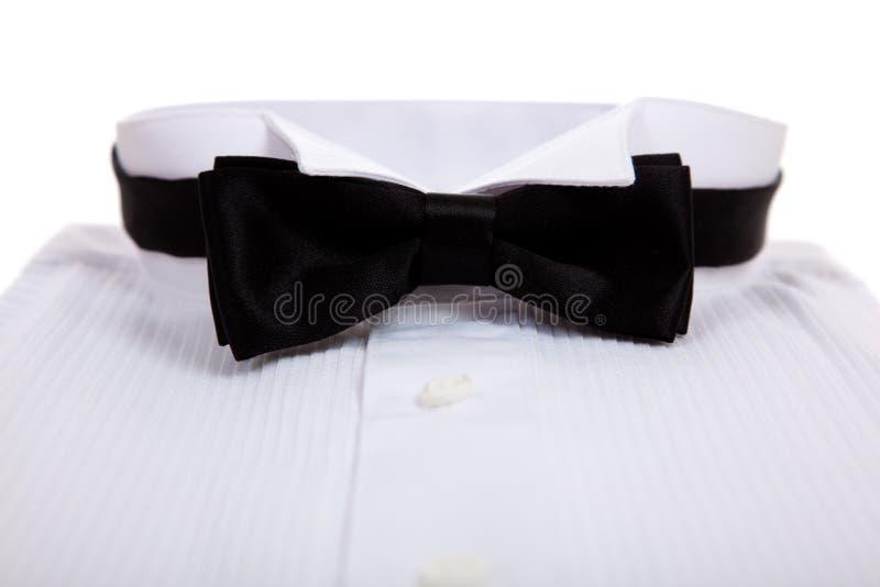 смокинг связи рубашки смычка стоковая фотография