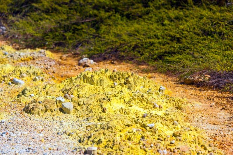 Смолотая текстура в районе Wai-O-Tapu геотермическом, Rotorua, Новой Зеландии стоковые изображения rf