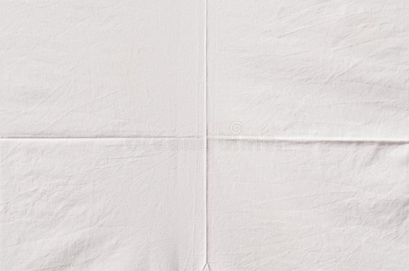 Сморщенная белизной текстура ткани стоковые изображения rf