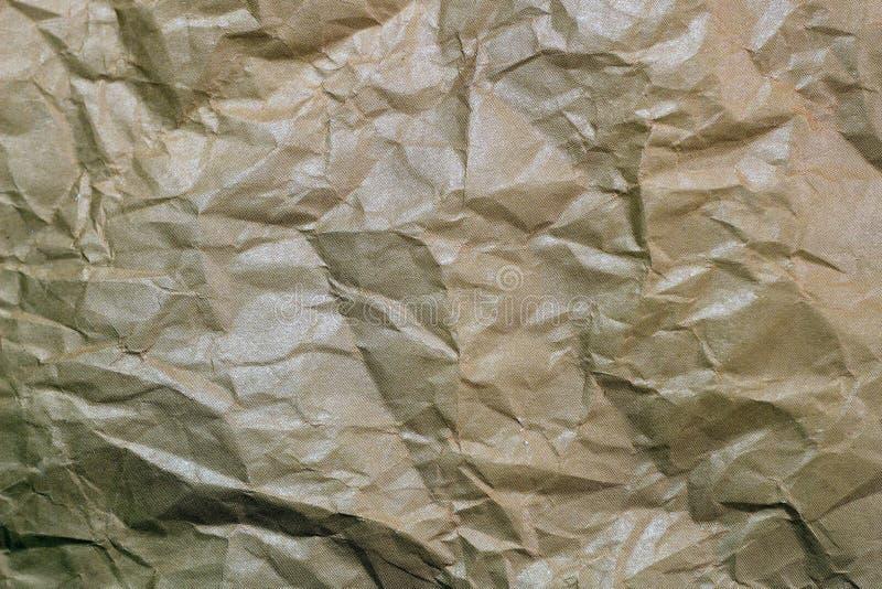 Сморщенная предпосылка бумаги Текстура скомканной бумаги Текстура скомканного старого бумажного крупного плана стоковое изображение rf