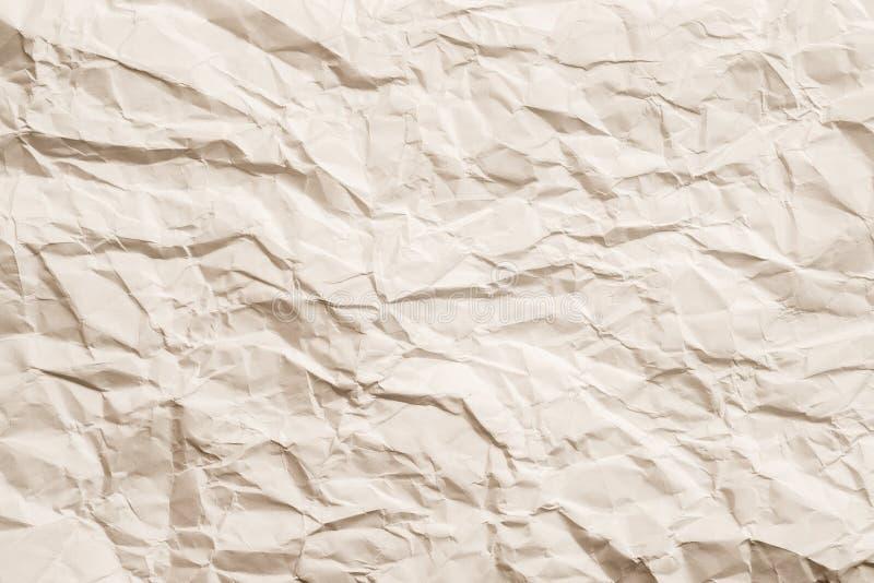 Сморщенная слоновая костью предпосылка бумажного eco листа дружелюбная стоковое изображение rf