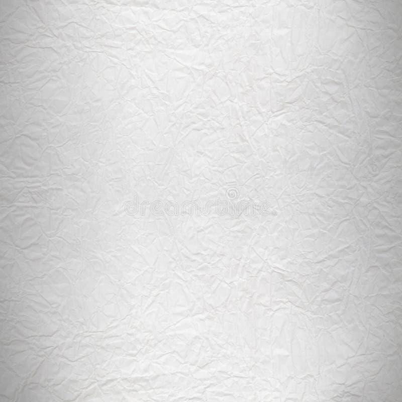Сморщенный белый лист бумаги стоковые изображения rf
