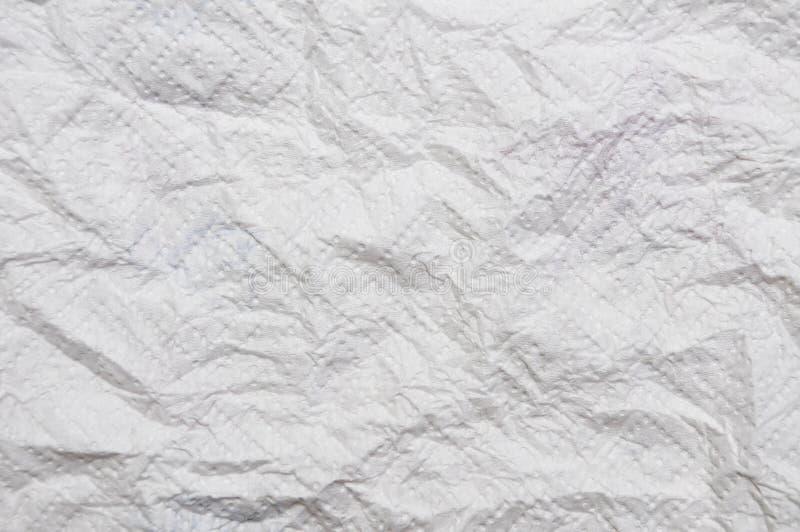 Сморщенный Текстура скомканной бумаги стоковое фото rf
