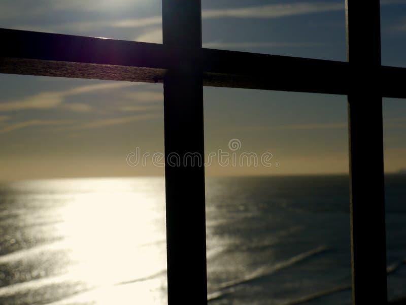 Смотреть вне над побережьем Кента стоковая фотография rf