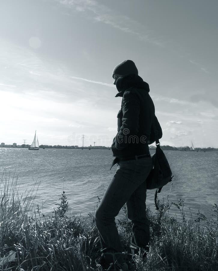 смотреть вне реку Стоковое Изображение
