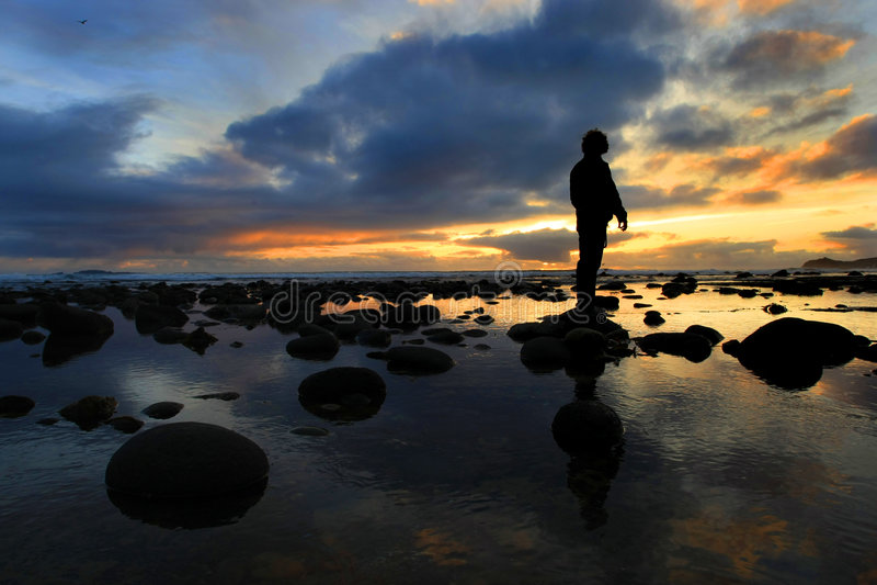смотреть заход солнца силуэта стоковые фотографии rf