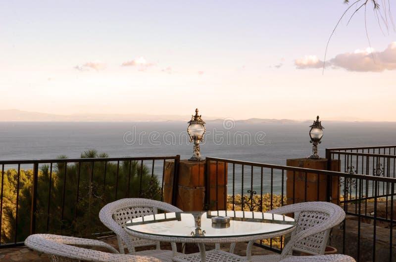 Смотреть к залив Edremit стоковое фото