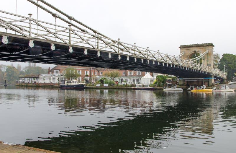 Смотреть мост в Marlow, Англия стоковые фото