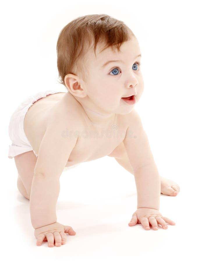 смотреть ребёнка вползая вверх стоковые изображения