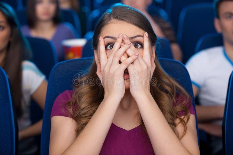 Смотреть страшное кино. стоковые изображения rf