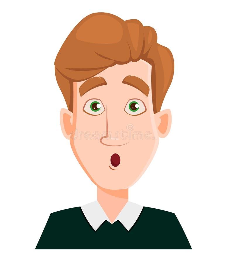 Смотрите на выражение человека при удивленные светлые волосы - бесплатная иллюстрация
