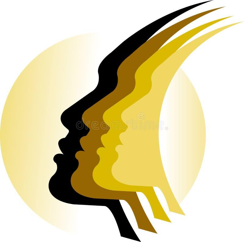 Смотрит на логос иллюстрация вектора