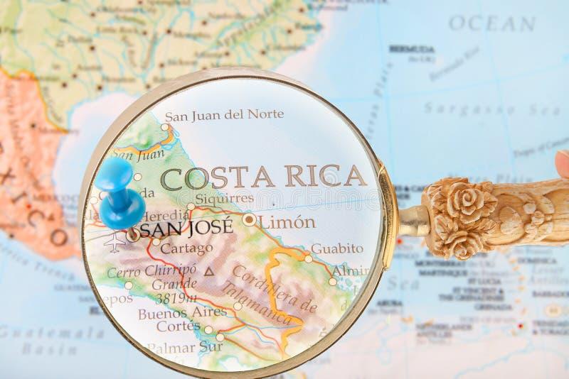 Смотрящ внутри на Сан-Хосе, Коста-Рика стоковое фото rf