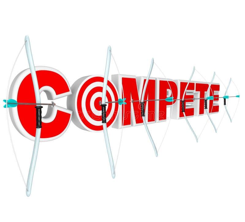 смычки стрелок состязаются конкуренты много приз бесплатная иллюстрация