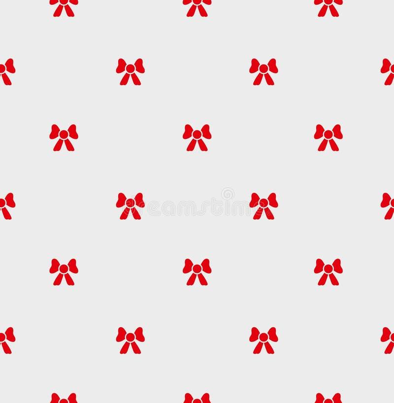 Смычок безшовной картины красный бесплатная иллюстрация