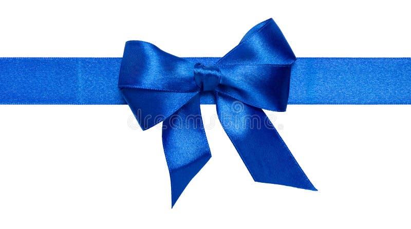 Смычок голубой тесемки стоковое фото rf