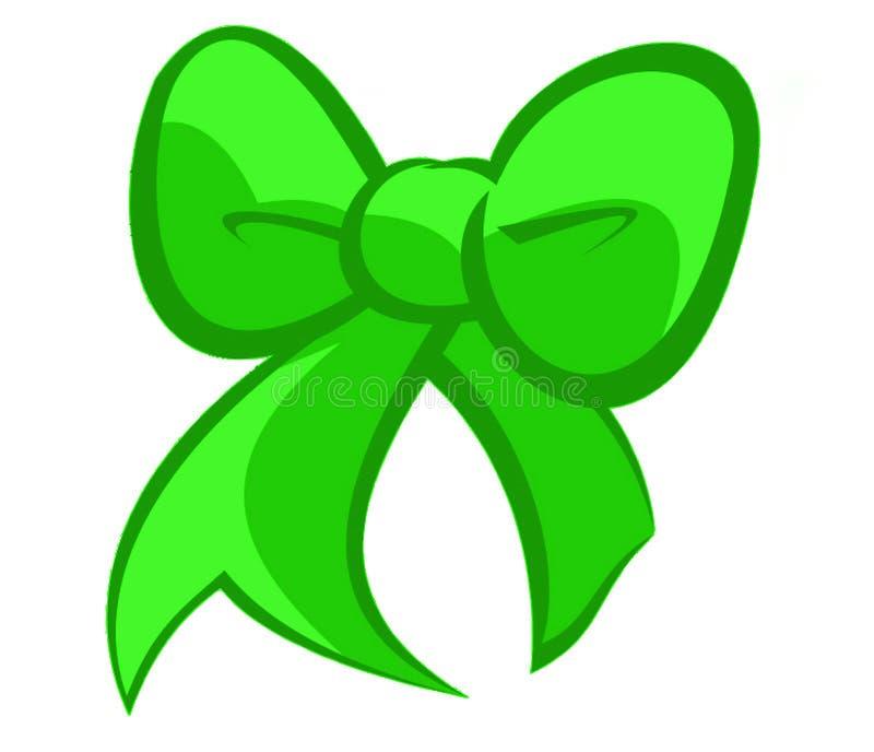 Смычок зеленого цвета праздников иллюстрация вектора