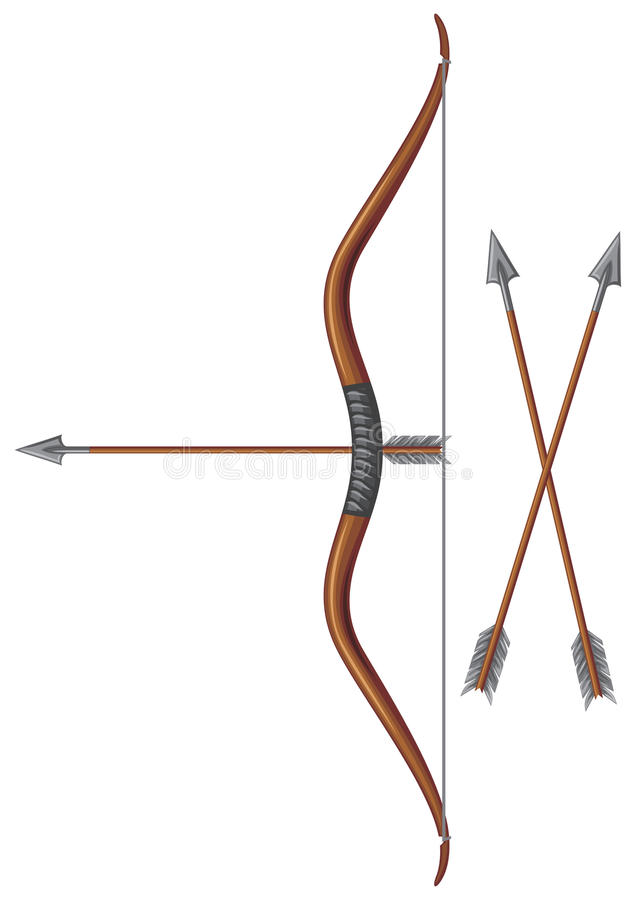 Смычок и стрелка иллюстрация вектора