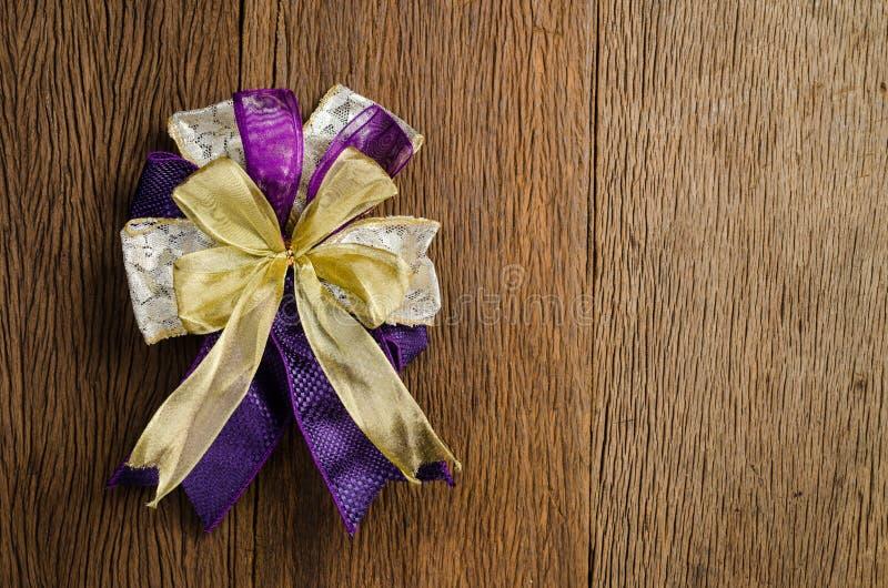 смычок подарка, присутствующий смычок, смычок ленты стоковое изображение rf