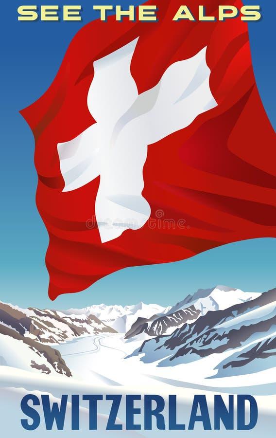 См. Альпы Швейцарию стоковое изображение rf