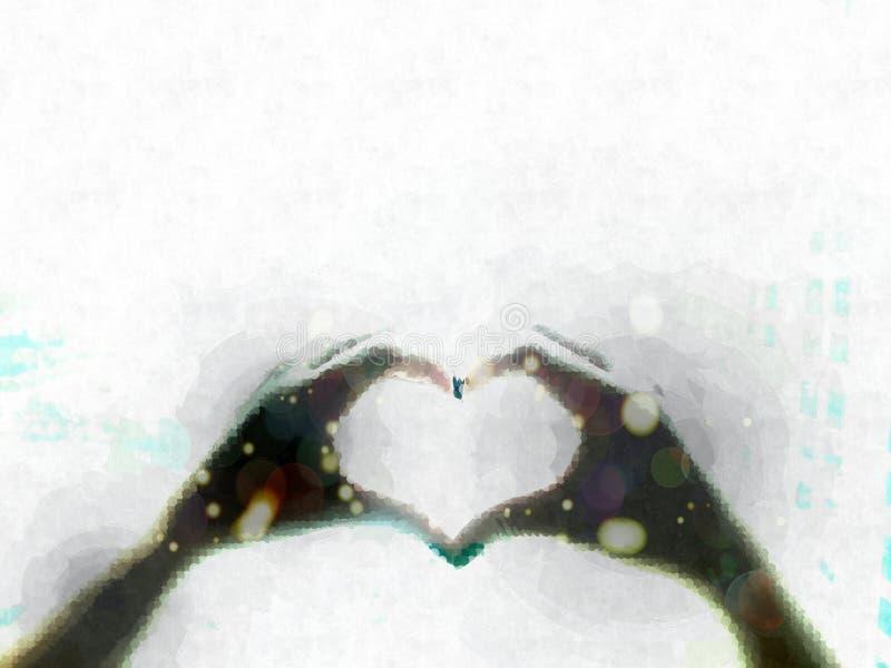 См. до конца сердце стоковое изображение rf