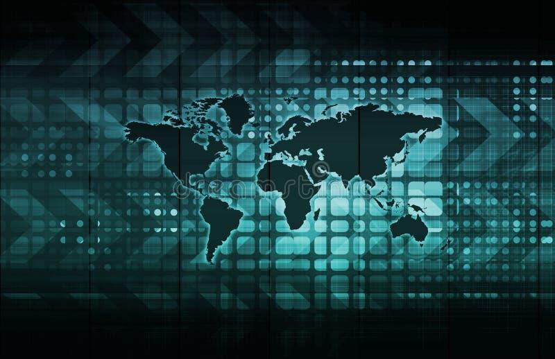 Снабжение глобального бизнеса иллюстрация вектора