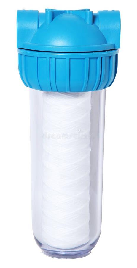 Снабжение жилищем водяного фильтра изолировало белую предпосылку иллюстрация вектора