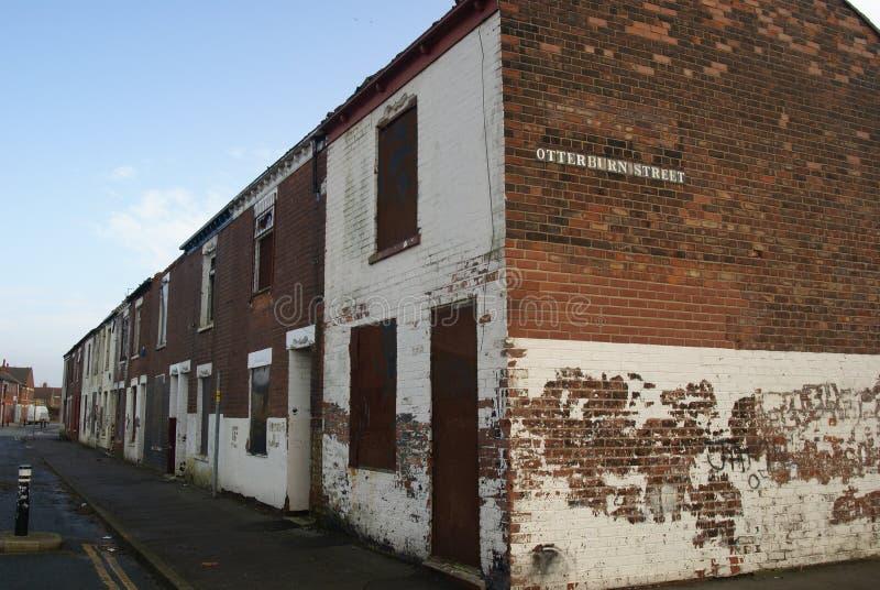 Снабжение жилищем трущобы, улица вальдшнепа, Кингстон на корпусе стоковое фото