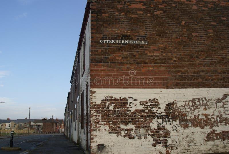 Снабжение жилищем трущобы, улица вальдшнепа, Кингстон на корпусе стоковое изображение rf