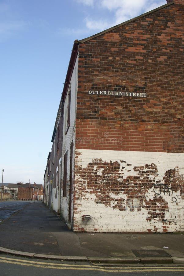 Снабжение жилищем трущобы, улица вальдшнепа, Кингстон на корпусе стоковое изображение